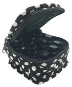 Black White Polka Dot Essential Oils Bag for Oil Bottles Travel Carrying Case