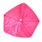 Xiaoyu 2PCS Hair Drying Towel, Dry Hair Cap, Fast Drying Hair Towel Wrap Turban, Rose Red