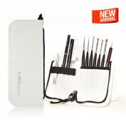 Kolinsky Handcrafted Professional Nail Art Brushes set w/case