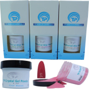 Gel Dip Powder for Nails Starter Kit ~ Dipping Powder for Fast, Easy Gel Nails at Home, No UV Light Needed ~ Long Lasting With a Chip Resistant Finish ~ Won't Damage Natural Nails ~ Safe & Odourless