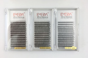 3D W Volume Cluster Eyelash Extension False Eyelashes 0.15 C Curl 8-14Mix/12/14MM 3Trays