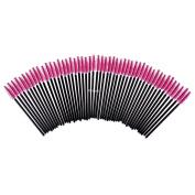 FlyItem 100 Pcs Rose Disposable Eyelash Brushes Mascara Wands Applicator Eye Extension Lash Facial Brush Cosmetic Makeup Tool Kits …