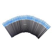 FlyItem 100 Pcs Blue Disposable Eyelash Brushes Mascara Wands Applicator Eye Extension Lash Facial Brush Cosmetic Makeup Tool Kits …