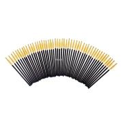 FlyItem 100 Pcs Yellow Disposable Eyelash Brushes Mascara Wands Applicator Eye Extension Lash Facial Brush Cosmetic Makeup Tool Kits …