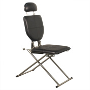 Minerva Portable Shampoo Facial Eyebrow Waxing Makeup Chair in Black
