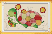 Seadream 11CT Stamped Cross Stitch Kits Tortoise Father and Son