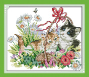 Seadream Stamped Cross Stitch Kits Four Seasons Cats, Spring