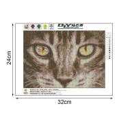 OHTOP DIY 5D Animal Cat Diamond Embroidery Painting Cross Stitch Art Craft Wall Decor