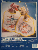 Gretchen's Goslings - Two Quilted Bibs For Embroidery or Ballpoint Painting
