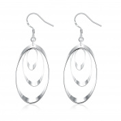 Forever C Silver-plated three-piece earrings