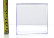 Clear Plastic Box - 10cm Square X 10cm Tall - 6 Boxes Per Pack