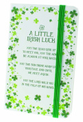 Clover Designed Moleskin Notebook With Irish Luck Blessing