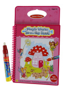 Rangebow Butterfly Princess Magic Aqua Water Reusable Drawing Doodle Book for Girls and Magic Pen for 3 Years plus