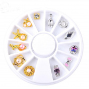 Baomabao Nail Art Tip DIY 3D Decal Stickers Decoration Stamping Manicure