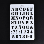Bluelans Lettering Stencils, Letter and Number Stencil, Painting Paper Craft Alphabet and Number Stencils