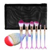 Makeup brushes,ABCsell New Fish Scale Makeup Foundation Eyebrow Eyeliner Blush Cosmetic Concealer Brushes