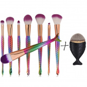 Makeup brushes,ABCsell 2017 9PCS Kabuki Makeup Brushes Set Makeup Foundation Powder Blusher Face Brush