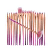 Makeup brushes,ABCsell New 20Pcs Blending Pencil Foundation Eyeliner Brush Eye shadow Makeup Brushes