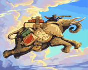 Dorara DIY Oil Painting Paint By Number Hand Paintworks 16×50cm Time Travellers