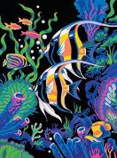 Dorara DIY Oil Painting Paint By Number Hand Paintworks 16×50cm Underwater Scene fish