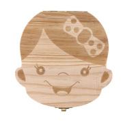 Yoyorule Baby Tooth Box Milk teeth Save Wood Storage Box Keepsake Organiser for Kids Boy Girl