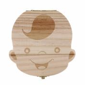 Baby Teeth Box, Cute Wood Teeth Storage Box Souvenir Box for Kids Boy & Girl