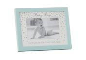 "Lovely ""Baby Boy"" Blue 15cm x 10cm Christening Photo Frame by Haysom Interiors"