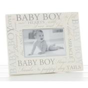 """Lovely """"Baby Boy"""" 15cm x 10cm Christening Photo Frame by Haysom Interiors"""
