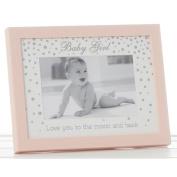 "Lovely ""Baby Girl"" Pink 15cm x 10cm Christening Photo Frame by Haysom Interiors"