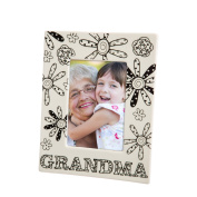 Blossoms & Buds Grandma Colouring Book Inspired Ceramic Picture Frame