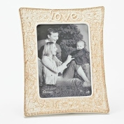Roman Inc. Wedding Day Love 25cm H Lace Frame holds a 5X7