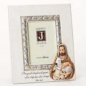 Roman Inc Joseph's Studio Everyday Gifts 26cm H Jesus with Lamb Sheperd Communion / Confirmation / Religious hoto Frame Holds 4x 6 Photo
