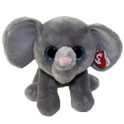 "Ty Classic Beanies TY Classic Plush -TY Classic Plush - WHOPPER the Grey Elephant (13 inch from tail) 25cm Medium Buddy Size 9"" …"