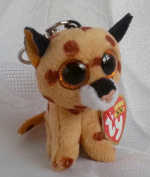 Ty Beanie Boo 7.6cm Key Clip Buckwheat the Lynx by Beanie Boos