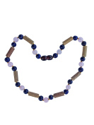 Lapis Lazuli, Rose Quartz and Hazelwood Necklace by Umai - Colic, Acid Reflux and Teething Individually Knotted for Babies and Toddlers