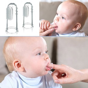 2Pcs Baby Kids Soft Safe Silicone Finger Toothbrush Gum Brush For Clear Massage