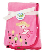 Adorable Pink-Coloured Microfiber Blanket with Cute Girl Design