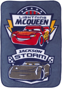 Disney/Pixar Cars 3 Movie Toddler Blanket with Lightning McQueen & Jackson Storm
