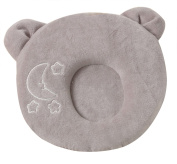Baby Pillow Soft Comfort Memory Foam Pillow Antiflat Head Cushion Nursery Newborn Infant Pillow Cute Panda Style-Grey/0-6 Months
