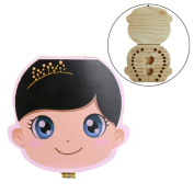 Creazy Tooth Box Organiser for Baby Milk Teeth Save Wood Storage Box for Kids Boy & Girl