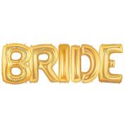 BRIDE Alphabet Word Balloons - Gold Foil Celebration Letters 100cm