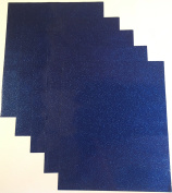 Qbc Craft 12x10 Dark Blue Glitter Permanent Adhesive Vinyl Sheets (5 Pack) for Cricut Expression Explore Silhouette Cameo make Adhesive Backed Vinyl Decals Signs