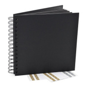Wedding Guest Book, Blank Square Spiral Bound Hardcover, Scrapbook, Photo Booth Album, 40 Sheets
