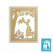 Mimgo Mom Baby Metal Cutting Dies Gold Stencils for DIY Scrapbooking Embossing Album Paper Card Craft Gifts