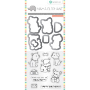 Hampton Art Mama Elephant Puppy Dog Dies & Clear Stamp Set
