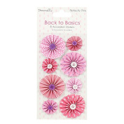 Dovecraft Back to Basics Perfectly Pink - Card Craft Accordion Stickers