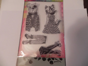 Dylusions Stamps & Stencil, Cat/Dog