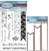 Prickley Pear Christmas Banner Clear Stamp and Die Set - CLR062 & PPRS-D062 - Bundle 2 Items