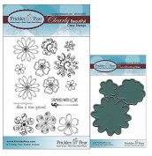 Prickley Pear Flowers Clear Stamp and Die Set # 2 - CLR012A & PPRS-D012 - Bundle 2 Items