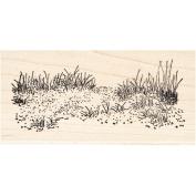 Beach Grass Rubber Stamp Scenic Stamp